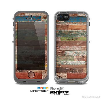 The Vintage Wood Planks Skin for the Apple iPhone 5c LifeProof Case