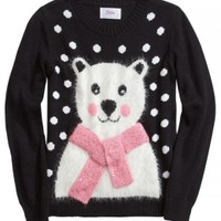 Fuzzy Holiday Critter Sweater