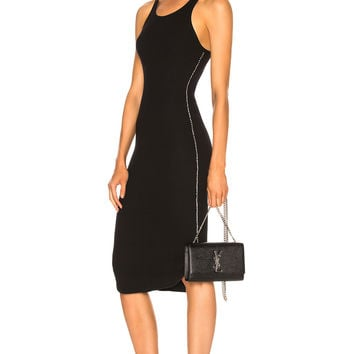 Frankie B Side Seam Rhinestone Dress in Black | FWRD