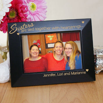 Engraved Sister Picture Frame