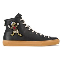 Indie Designs Donald Duck Leather Hi-top Sneakers