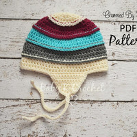 Punky's Beanie Crochet Pattern for Newborn to Adult - Boys & Girls