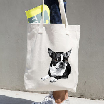 Dog Breed Canvas Tote Bag - American Apparel