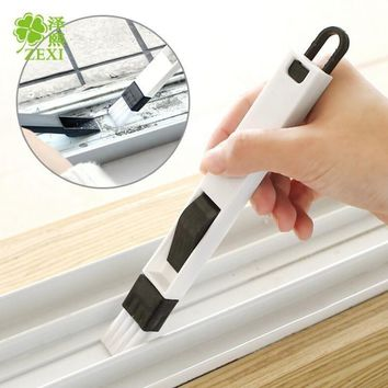 New Arrival Multifunction Computer Window Cleaning Brush Window Groove Keyboard Nook Cranny Dust Shovel Window Track Cleaner