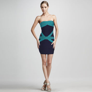 Women's Fashion Sexy Backless Bra Slim Bandages Dress Prom Dress [4919879620]