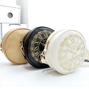 Mini Bags Korean Stylish Casual Innovative Watch One Shoulder Clock [6581106119]