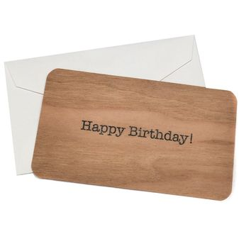 Mini Wood Card Happy Birthday