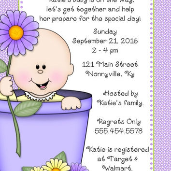 Spring Baby Shower Personalized Invitations