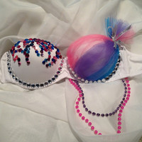 Cotton Candy / Custom Handmade Rave Bra