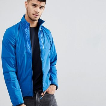 PS Paul Smith Nylon Tech Zip Through Jacket In Blue at asos.com