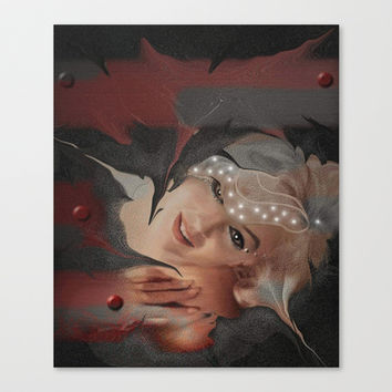 Marilyn Stretched Canvas by Müge Başak