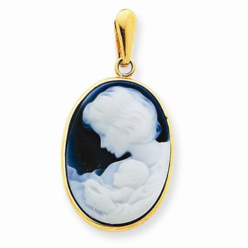 14 Yellow Gold New Arrival III Agate Cameo Pendant