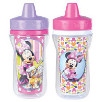 Disney Baby Minnie Mouse Insulated Sippy Cup with One Piece Lid - 9 oz.- 2 Pack