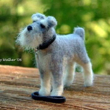 Custom Dog Portrait of Your Pet  Needle Felted  by Cindy Walker