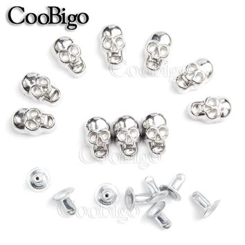 10pcs 11x6.5mm Skull Rivet Studs Spikes DIY Leather Craft for Apparel Clothing Shoe Bag Parts Accessories