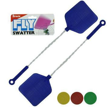 Fly Swatters with Wire Handles (Available in a pack of 24)