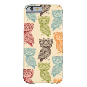 Cute Colorful Tribal Aztec Owl Pattern Barely There iPhone 6 Case