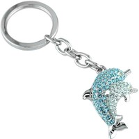 Little Switzerland - Dolphin Swarovski Crystal Key Chain