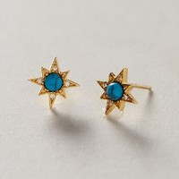 Turquoise Burst Earrings by Anthropologie Turquoise One Size Earrings