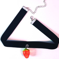 Strawberry Choker Necklace