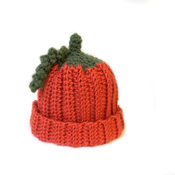 Babies Pumpkin Beanie, you pick the size