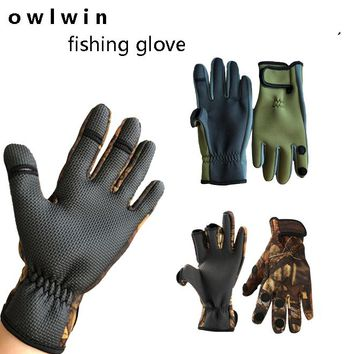 Outdoor sports riding cold resistant gloves can expose three fingers wear resistant Fishing Gloves, anti-skid waterproof fishing