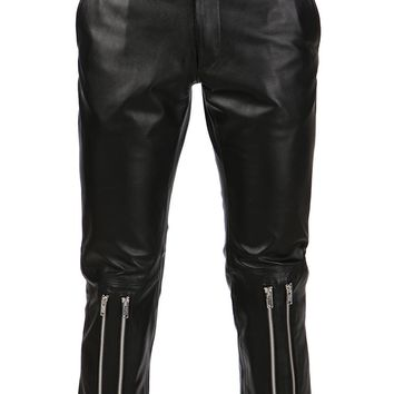 99% cropped zip trousers
