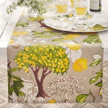 Lemon Branch Table Runner