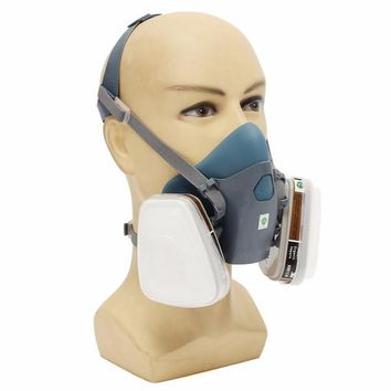7502 7 Piece Suit Respirator Painting Spraying Face Gas Mask Filter Cover