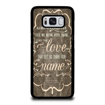 THE AVETT BROTHERS QUOTES Samsung Galaxy S8 Case Cover