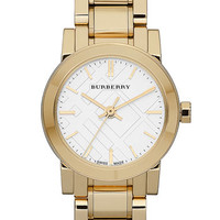 Burberry Small Check Stamped Bracelet Watch | Nordstrom