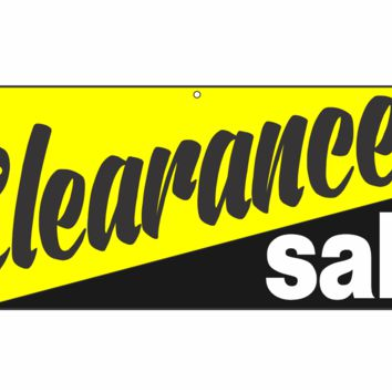 Black & Yellow Clearance Sale Vinyl Banner