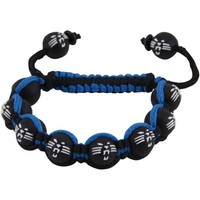 Carolina Panthers Ladies Beaded Bracelet - Black