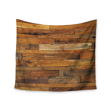 "Susan Sanders ""Woodstock"" Brown Tan Wall Tapestry"