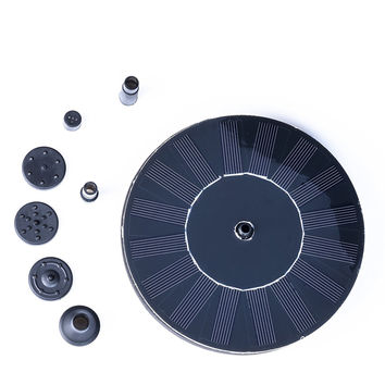 Weanas Outdoor Mini Solar Powered Floating Fountain Pool Water Pump
