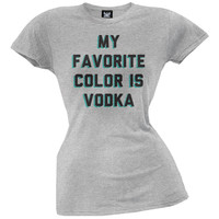 My Favorite Color Is Vodka Juniors T-Shirt