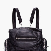 Alexander Wang Black Leather Marti Backpack for women | SSENSE