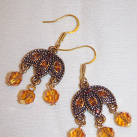 Citrine Swarovski Crystal Earrings