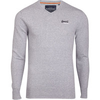 Pull Orange Label gris SUPERDRY | Citadium
