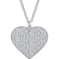 Sterling Silver I Love You Heart Pendant | Meijer.com