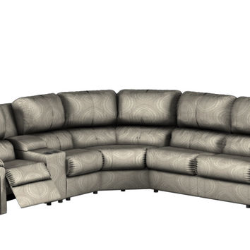 Large Reclining True Sectional Color Customizable Sofa with Console Daley by Palliser