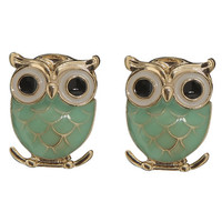 Epoxy Owl Button Earring | Shop Jewelry at Wet Seal