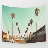 Ocean Beach Blvd San Diego Wall Tapestry by SoCal Chic Photography
