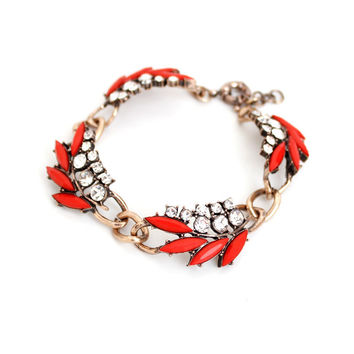 Stylish Hot Sale Gift Shiny New Arrival Awesome Great Deal Accessory Leaf Diamonds Bracelet [6586246727]