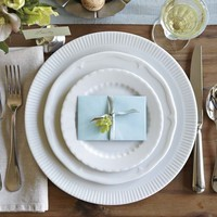 Eclectique Dinnerware Place Setting, White