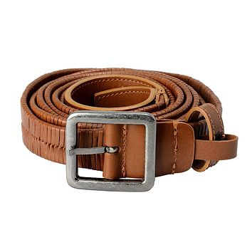 Versace 100% Leather Brown Men's Double Wrap Belt US 36 IT 90;