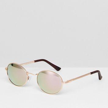 AJ Morgan Round Sunglasses In Rose Gold at asos.com