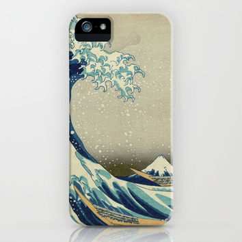 Great Wave Off Kanagawa. Japanese vintage landscape oil painting art. iPhone & iPod Case by ArtsCollection