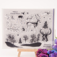 NCraft Clear Stamps N1190 Scrapbook Paper Craft Clear stamp scrapbooking Forest animals