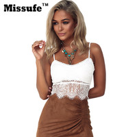 White Tank Top Women Top Crop Summer Style Sexy Casual Halter Shirt Lace Stitching Backless Hollow T-shirt For Female Crop Top